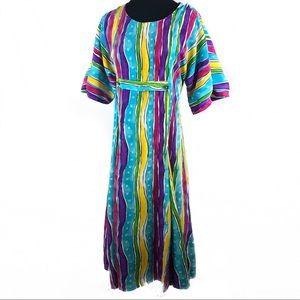 Super cute 80's maxi dress